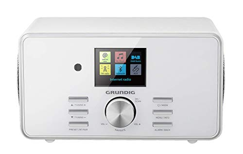 "Grundig DTR 5000 2.0 BT DAB+ WEB ""All-in-one""-Internetradio mit Bluetooth und Empfang Weiß"