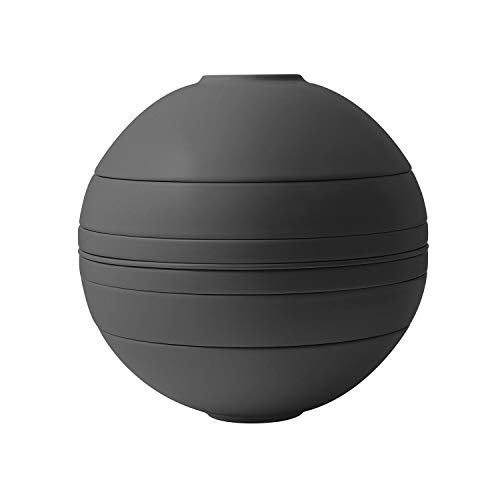 Villeroy & Boch - Iconic La Boule, Geschirr-Designobjekt mit aufregender Oberfläche, Premium Porzellan, spülmaschinengeeignet, schwarz