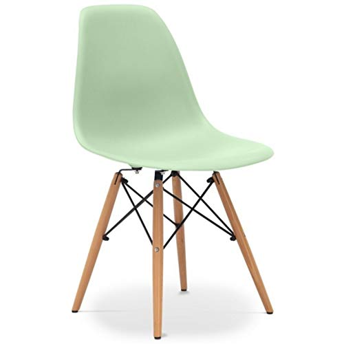 WHYNOTHOME WHY546.STOWERVM sillas, Verde Menta, 82 x 47 x 48 cm