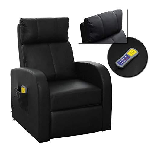 Zora Walter Sillón de masaje eléctrico con mando a distancia, color negro,...