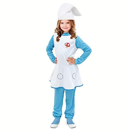 Disfraz Duende Azul para niña (7-9 años) (+ Tallas) Carnaval
