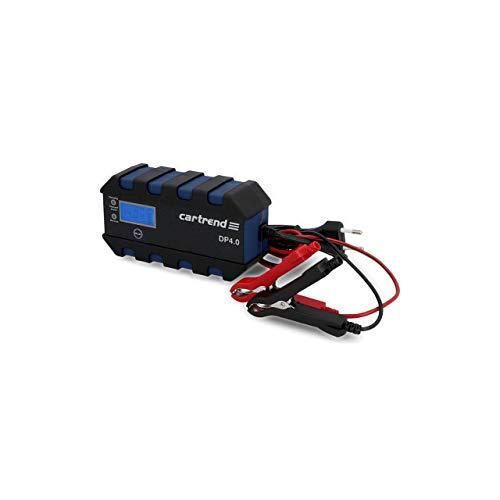 Cartrend 10620 Mikroprozessor-Ladegerät für Auto Batterie DP 4.0, 4 Ampere für 6/12 V, 9-HF Ladestufen, Autostartfunktion, Komfortanschluss