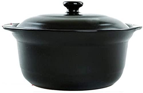 LIRONGXILY Cocotte Cazuelas de Cocina Terracotta Cocina Terracota Guiso Stef Stef Pot-Alta Temperatura Resistencia, Calefacción Uniforme (Color : #2, Size : 1.2L)