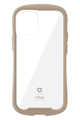 iFace Reflection iPhone 12 mini ケース iPhone2020 5.4インチ クリア 強化ガラス [ベージュ]