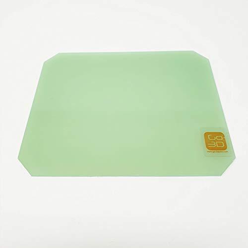 GO-3D PRINT 130mm x 160mm Polypropylene Glass Fiber Plate Bed w/Corners Cut for Monoprice MP Select Mini 3D Printer