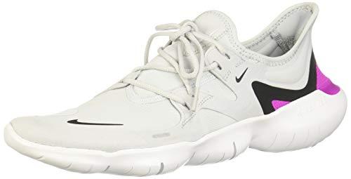 Nike Men's Free Rn 5.0 Competition Running Shoes, Multicolour (Pure Platinum/Black/Hyper Violet 7), UK