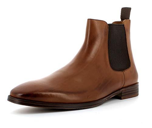 Gordon & Bros Herren Chelsea Boots, City S181837 Männer Stiefel,Halbstiefel,Bootie,Schlupfstiefel,flach,Cognac,42 EU / 8 UK