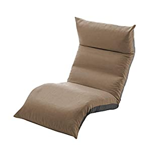 セルタン 日本製 高反発 座椅子 和楽の月 LIGHT 上下タイプ ダリアンブラウン 頭部脚部リクライニング A972a-640BR