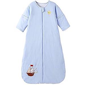 Saco de dormir para bebé de invierno con mangas desmontables, para todo el año, 2,5 tog, barco de vela, 18/36 meses…