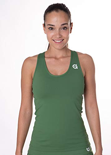 a40grados Sport & Style, Camiseta Cossi, Color Verde Oliva, Mujer, Tenis y Padel (Paddle) (38 S)