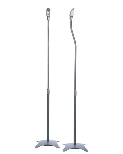 Minify - 1 coppia di supporti, con piedistallo, portata: 4,5 kg l'uno, colore: Argento