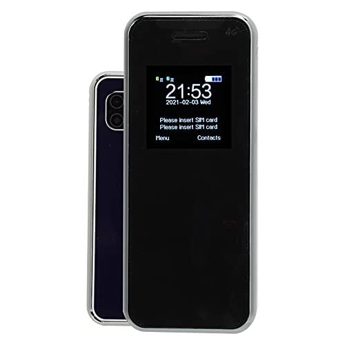 Surebuy Teléfono móvil para niños, sin Llamadas en la Clase Teléfono de Barra portátil con Cable de Datos + Cubierta de teléfono para niños(Azul Marino)