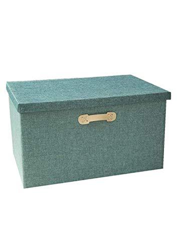 KAIXIN Caja de Almacenamiento Caja de Almacenamiento Plegable de Tela, Adecuada para guardarropa, Caja de Almacenamiento de Ropa de Juguete, Almacenamiento de Maletero de coche-58x40x35cm