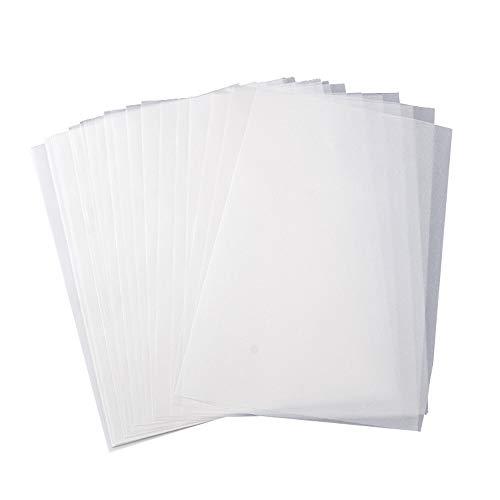 Transparentpapier 100 Blatt A4 säurefrei lichtdurchlässiges Papier zum Zeichnen, Drucken, Grafikdesign