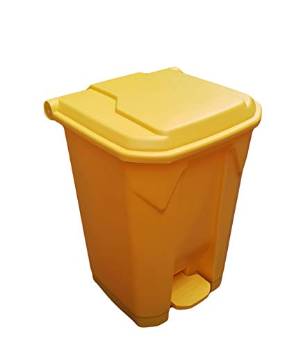 30 Litre Clinical School Garbage Recycling Waste Hyginic Foot Pedal Plastic Bin (Yellow)
