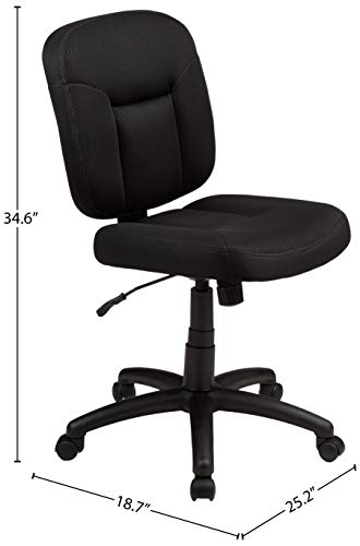 AmazonBasics Upholstered Armless Chair