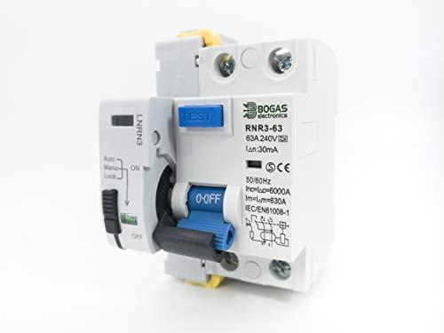 Interruptor Diferencial AutoRearmable Super Inmunizado SI de 63A Tipo A, 6Ka 2P 30ma