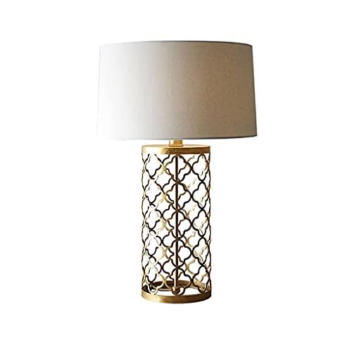 Lámpara de mesa romántica cálida lámpara de noche retro país americano color bronce color creatividad escritorio lámpara para la oficina de dormitorio