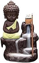 Incensário Buda Modelo Cascata + 20 Incenso Cones (amarelo)