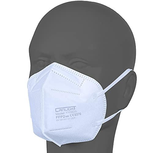 AUPROTEC 50 Stück FFP2 Maske Atemschutzmaske EU CE 2163 Zertifiziert EN149:2001+A1:2009 Mundschutz 5 lagig mit innen liegendem Vlies einzeln verpackt