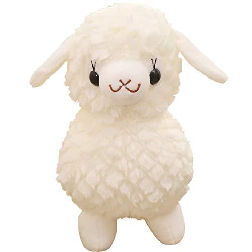 Alpaca Doll Grass Mud Horse Sheep Plush Toy calmante Playmate Juguetes para niños, animales de peluche, regalos de cumpleaños de Navidad (color 1, altura: 45 cm)