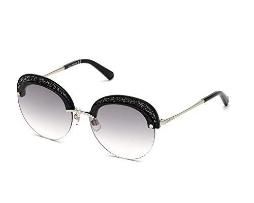 Swarovski Sonnenbrillen (SK-0256-S 16B) silber - schwarz glänzend - grau verlaufend