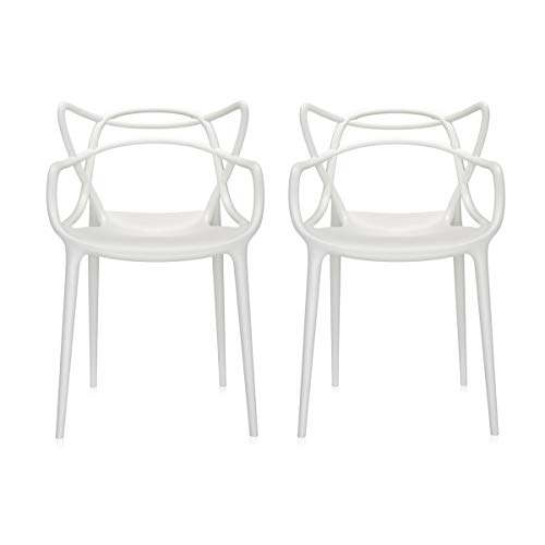 Kartell Masters Stuhl Set, Polycarbonat, weiß, 57x47x84cm
