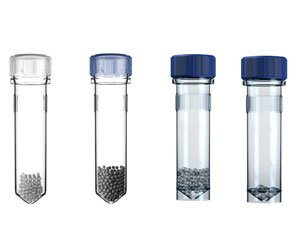 HOMOGENIZER Bead Tubes, 2.0mL Conical Reinforced Screw Cap Tubes, 1.4mm & 2.8mm Ceramic Beads, 50/pkg.