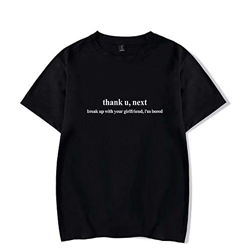 Thank U Next T-Shirt Trendy Hip-Hop Tee Unisex Couple 2D Letter Print Fashion Casual T-Shirt - Thank U,Next - Break up with Your Girlfriend,I'm Bored