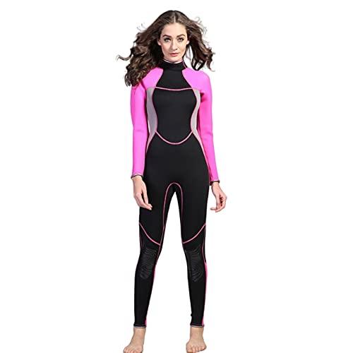 Traje De Buceo De Ensuebo De Siembra Elástica De Las Mujeres De Manga Larga De Tamaño Grande De Gran Snorkeling Natación Protector Solar MUMUJIN (Size : XS)