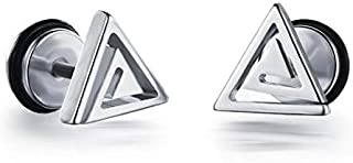 PK-300SL Fashionable Triangle Design Stainless Steel Stud Earring for Men