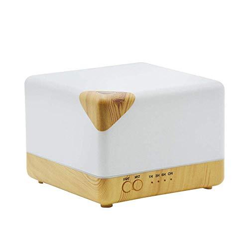 Lievevt Humidificador Plug-in Forma geométrica Creativa Grano de Madera Aceite Esencial máquina de aromaterapia atomizador hogar humidificador de Aire silencioso 7 Luces LED de Color