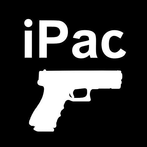 Pegatinas creativas más frescas de moda 12.7cm X 14.2cm Ocultar Pistola Pistola Advertencia Calcomanía Hand Pistola de mano 9mm FireArm Pegatinas de automóvil Accesorios de automóvil Blanco