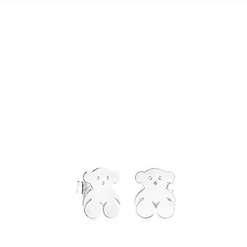 Pendientes de botón TOUS Bear de Plata