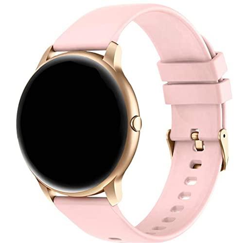Inteligente mujeres del reloj SmartWatch Ronda de fitness inteligente de la banda de frecuencia cardíaca Detectar reloj digital con reloj personalizado Caras de la Mujer Rosa totalmente adaptado
