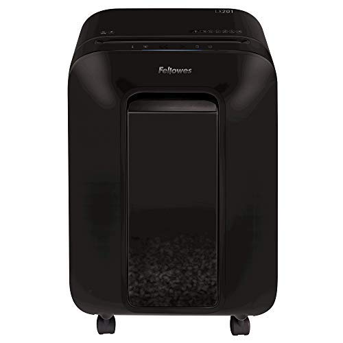 Fellowes Powershred LX201 Aktenvernichter, 12 Blatt Micro-Cut P-5, für Home Office, mit 100% Staufrei & Safesense Technologie