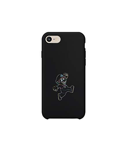 GlamourLab Here We Go Super Mario Jumps In Town_R2780 Protective Phone Case Cover Handyhulle Handyhülle Schutz Hülle Kompatibel mit iPhone 7 Lustig Gift Christmas Birthday Novelty