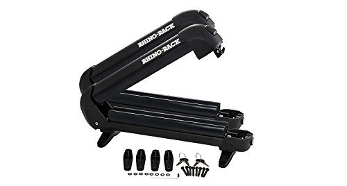 Rhino-Rack Ski & Fishing Rod Carrier with Universal Mounting Bracket, Easy Use & Fitment, Heavy Duty; For All Vehicles; 4WD, Pick Up Trucks, SUV's, Wagon's, Sedan's; Lightweight (572), 31 inch external, 27 inch internal