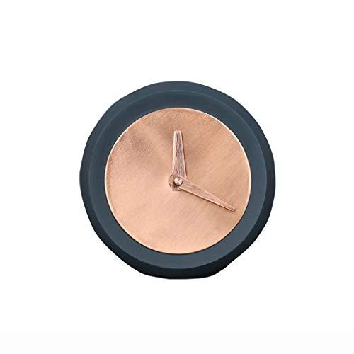 Hong Yi Fei-Shop Elegante Reloj de Mesa Artesanías Creativas nórdicas Personalidad de Reloj de Silencio Reloj Creativo Reloj Moderno Reloj de Escritorio