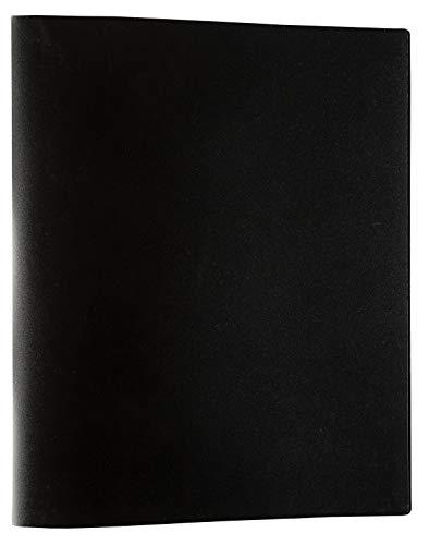 Idena 10428 - Ringbuch im Format DIN A4, mit 2-Ring-Mechanik, 20 mm Rückenbreite, schwarz, 1 Stück