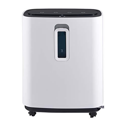 VONOYA Concentratore di Ossigeno con Maschera Purificatore d'Aria 240W per Uso Domestico e Viaggi Generatore O2 Portatile al 93% Macchina per Ossigeno Regolabile per Adulti (Bianco-3L)