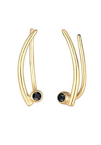 Elli Ohrringe Ear Climber Swarovski® Kristalle Trend 925 Silber