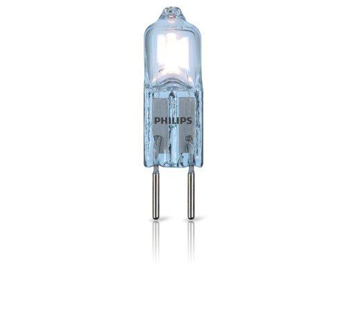 Philips bombilla de cápsula halógena, consumo de 14 W equivalente a 20 W de una bombilla incandescente, casquillo G4, luz blanca cálida