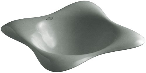 KOHLER K-2815-FT Dolce Vita Self-Rimming Bathroom Sink, Basalt
