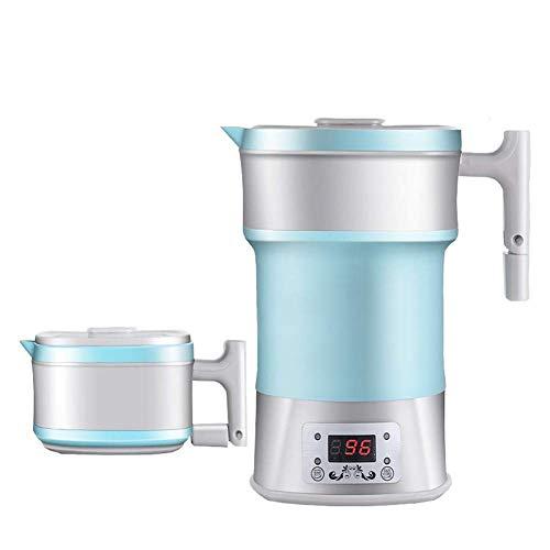 Elise 0.8L Faltbare Reisewasserkocher Schnelle Boil Dual Voltage Silikon zusammenklappbaren Wasserkocher for Outdoor-Reisen Camping (blau) (Color : Blue)