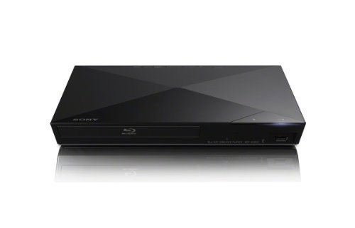 Sony BDP-S3200 Blu-ray DVD CD 1080p Full HD Disc Player With Built-in Wi-Fi and Streaming Apps, Plus HDMI Cable (Renewed)