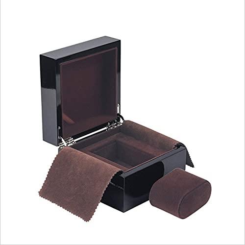 Cajas de reloj de madera para almacenamiento de relojes, caja decorativa para relojes diarios o viajes (color: negro, tamaño: 13,5 x 13,5 x 9) (color negro, tamaño: 13,5 x 13,5 x 9)