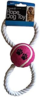 Dog Toy Figure 8 Rope and Tennis Ball Interactive Tug of War Rope Great for Fetch for Small Dogs and Puppies Chew toy