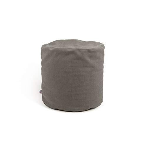 Arketicom Soft Cube - Suave puf cuadrado con diseño moderno para salón, relleno de bolas de poliestireno, con forro interior extraíble, práctico y ligero
