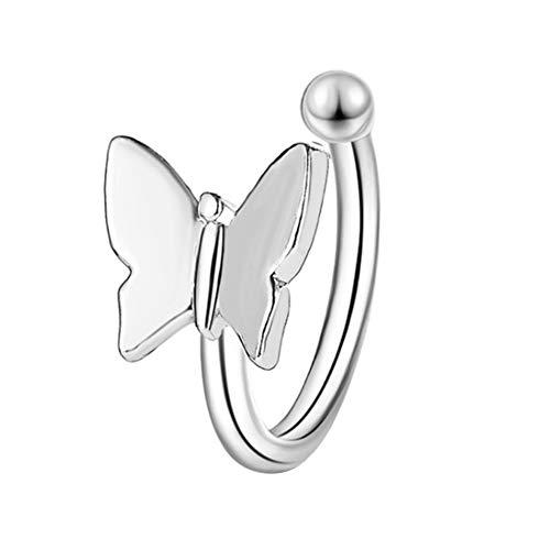 DQWD Moda mariposa oreja brazalete metal plata oro cartílago pendientes pendientes pendientes pendientes clip encantador para mujeres vacaciones fiesta joyería regalo